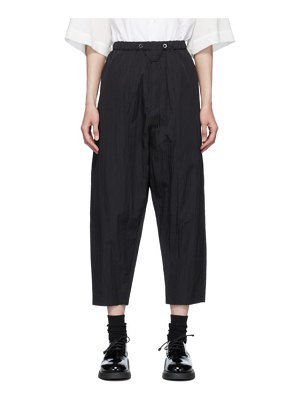 Fumito Ganryu black nylon tapered lounge pants