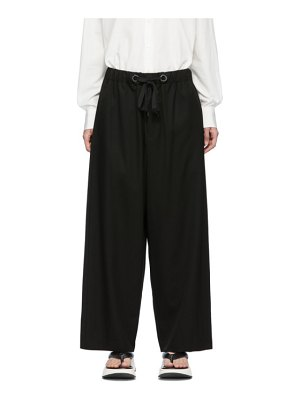 Fumito Ganryu black wide relaxed lounge pants