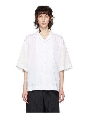 Fumito Ganryu white combination shirt