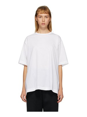 Fumito Ganryu white watteau pleat t-shirt