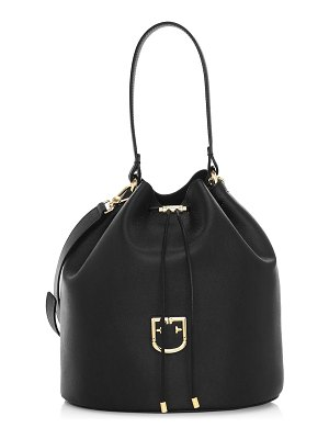 Furla medium corona drawstring leather bucket bag