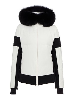 FUSALP fur-trimmed two-tone shell down coat