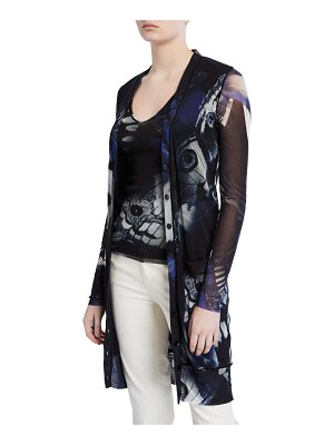 Fuzzi Butterfly Long Button-Front Cardigan
