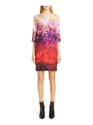 Fuzzi degrade floral shift minidress
