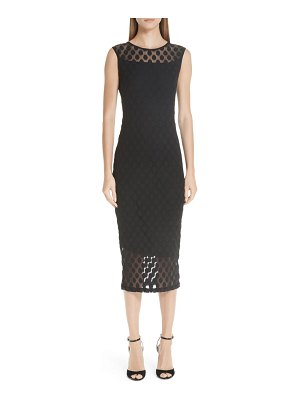 Fuzzi dot tulle pencil dress