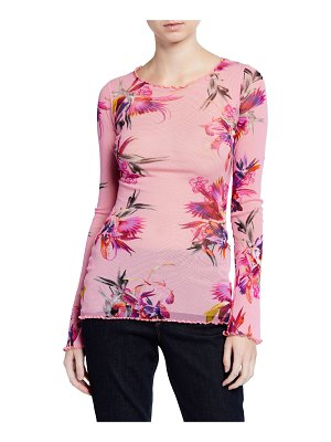 Fuzzi Floral Long-Sleeve Top