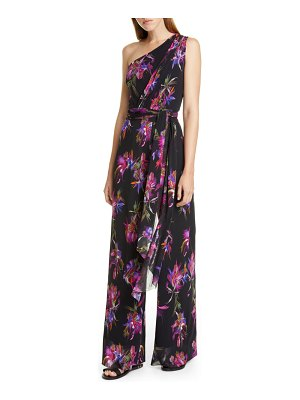 Fuzzi floral one shoulder jumpsuit