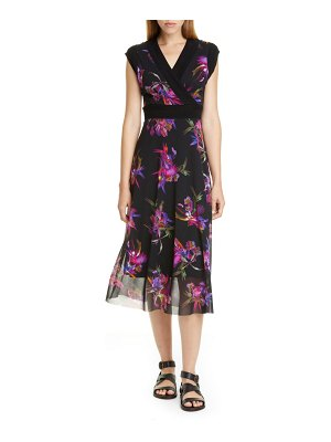Fuzzi floral print midi dress