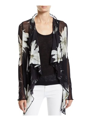 Fuzzi Fracture Flower Long-Sleeve Cardigan
