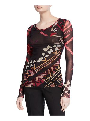 Fuzzi Geometrico Long-Sleeve T-Shirt