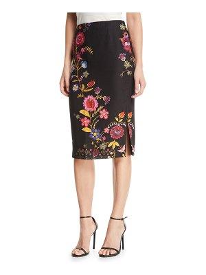 Fuzzi Printed Cady Pencil Skirt