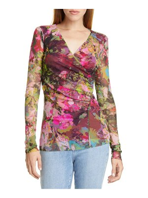 Fuzzi ruched floral print top