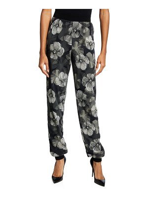 Fuzzi Small Floral Deco Tulle Jogger Pants