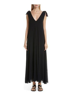 Fuzzi tulle maxi dress