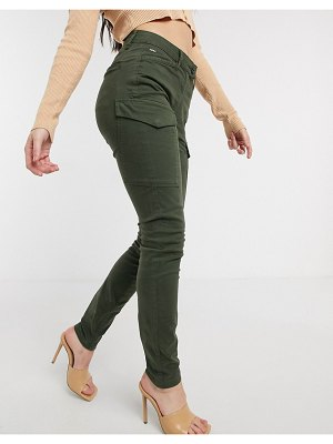 G-Star blossite utility high rise skinny pants in green-black