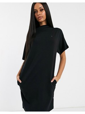 G-Star knit sweater dress with sheer detail-black