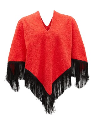 Gabriel For Sach fringed cotton-terry poncho