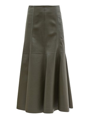 GABRIELA HEARST amy fluted leather midi skirt
