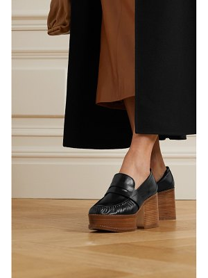 GABRIELA HEARST augusta leather platform pumps