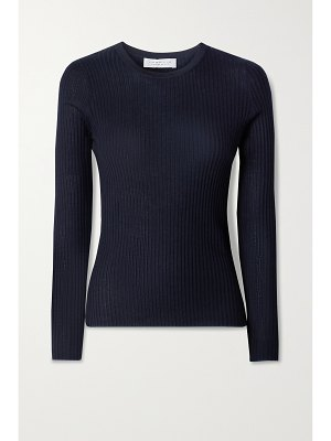 GABRIELA HEARST browning ribbed cashmere and silk-blend sweater