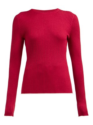 GABRIELA HEARST browning ribbed cashmere blend sweater