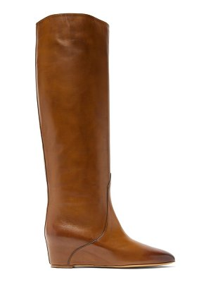 GABRIELA HEARST gustave knee-high wedge-heel leather boots