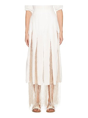 GABRIELA HEARST Harmonia Skirt with Silk Macrame