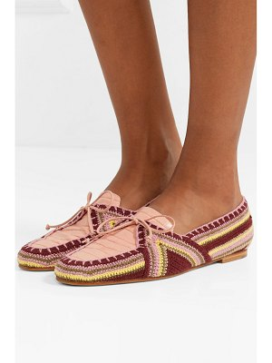 GABRIELA HEARST hays croc-effect leather and crocheted loafers
