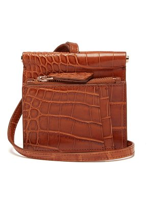 GABRIELA HEARST maria mini crocodile necklace bag