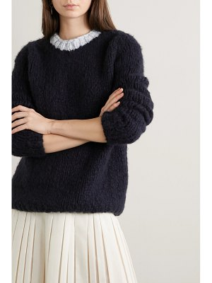 GABRIELA HEARST net sustain lawrence two-tone cashmere sweater