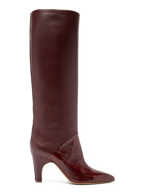 GABRIELA HEARST rimbaud patent-leather panel knee-high boots
