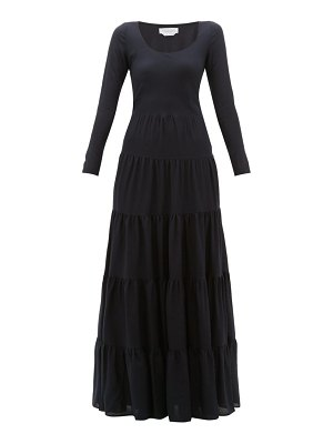 GABRIELA HEARST slava tiered wool blend maxi dress