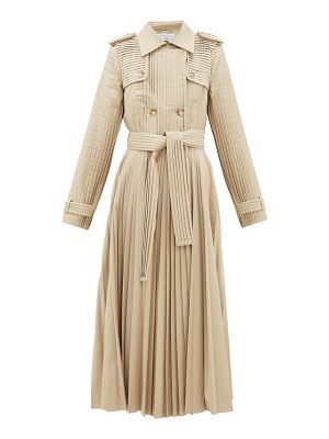 GABRIELA HEARST stein pleated cotton-gabardine trench coat
