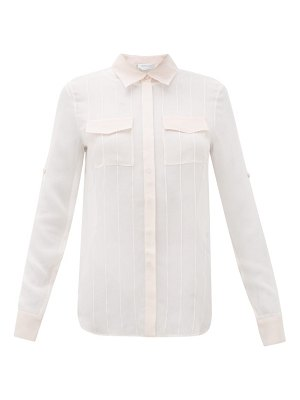 GABRIELA HEARST steve pintuck-pleated silk-chiffon blouse