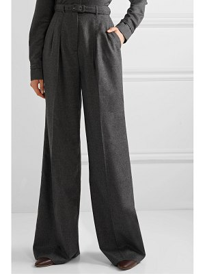 GABRIELA HEARST vargas belted brushed-cashmere wide-leg pants