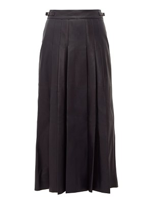 GABRIELA HEARST wesley pleated leather midi skirt