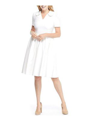 Gal Meets Glam Collection alison box weave crepe dress