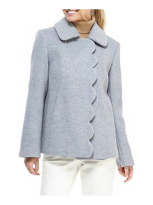 Gal Meets Glam Collection aubrey scalloped houndstooth check coat