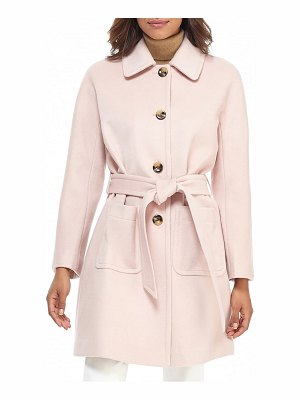 Gal Meets Glam Collection belted wool blend coat