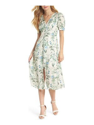 Gal Meets Glam Collection botanical garden print midi dress