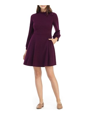 Gal Meets Glam Collection bow detail long sleeve fit & flare sweater dress