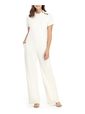Gal Meets Glam Collection button detail crepe jumpsuit