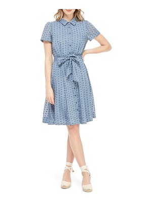 Gal Meets Glam Collection button down fit & flare shirtdress