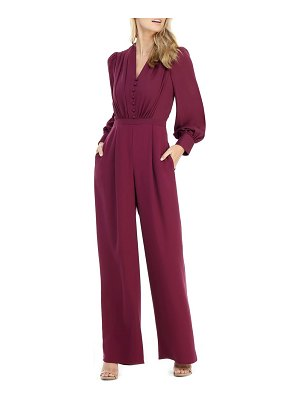 Gal Meets Glam Collection button wide leg jumpsuit