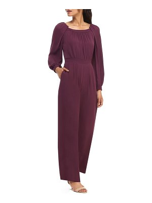 Gal Meets Glam Collection cheyenne long sleeve crepe jumpsuit