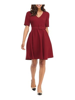 Gal Meets Glam Collection clara belted fit & flare dress