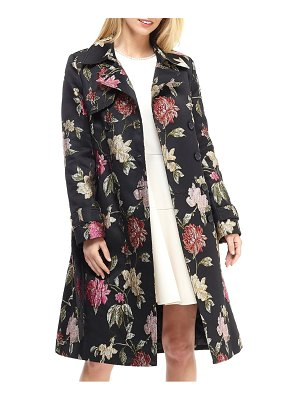 Gal Meets Glam Collection dominique floral jacquard trench coat
