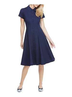 Gal Meets Glam Collection fit & flare shirtdress