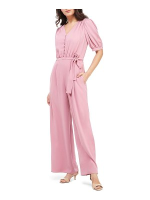 Gal Meets Glam Collection gabriella button bodice jumpsuit