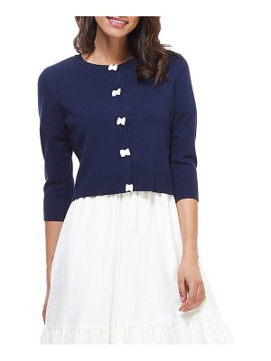 Gal Meets Glam Collection iris bow placket cardigan